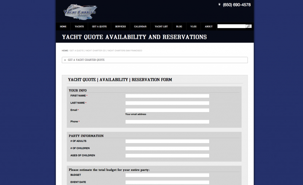 Yacht Charter Co Website Pages | San Francisco Yacht Charter (5)