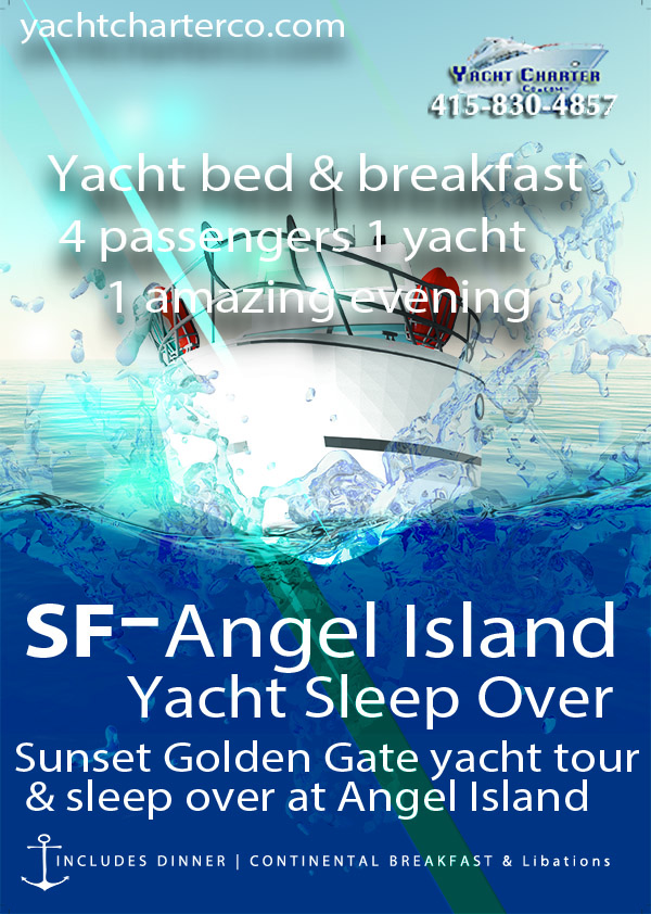 San Francisco yacht bed and breakfast angel island chart